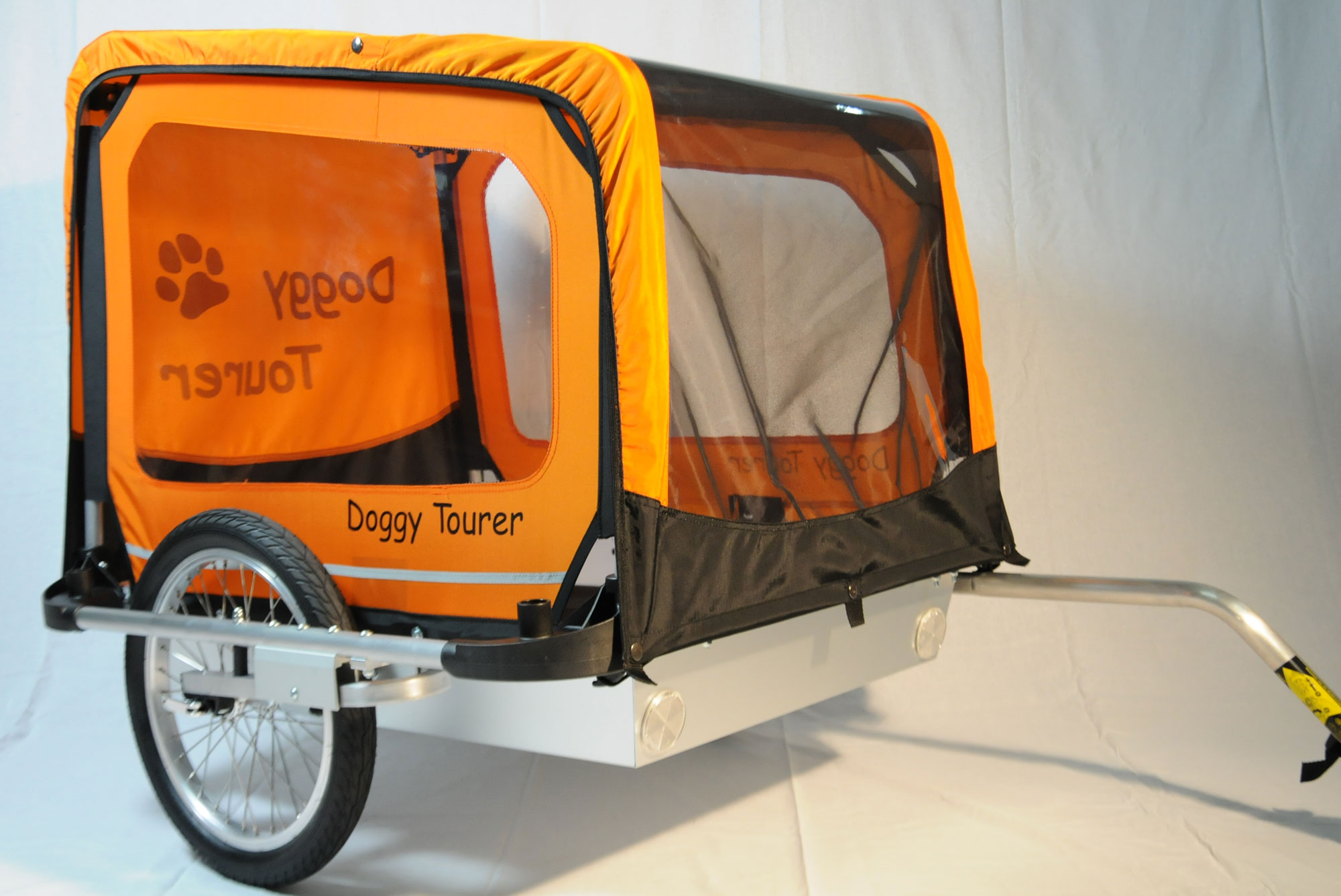 Fahrradanhänger / Hundeanhänger Kids Touring Doggy Tourer L orange Bild 1