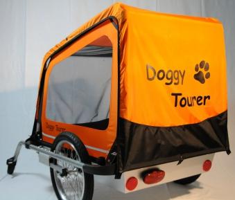 Fahrradanhänger / Hundeanhänger Kids Touring Doggy Tourer L orange Bild 2