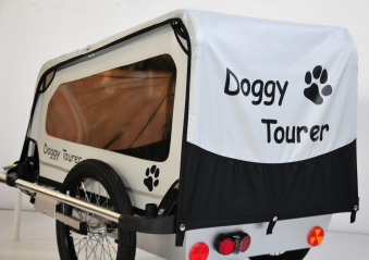 Fahrradanhänger / Hundeanhänger Kids Touring Doggy Tourer M silber Bild 2