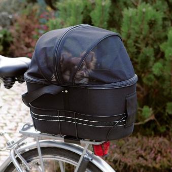 Fahrradkorb mit Netzabdeckung TRIXIE 48x29x42cm schwarz Bild 2