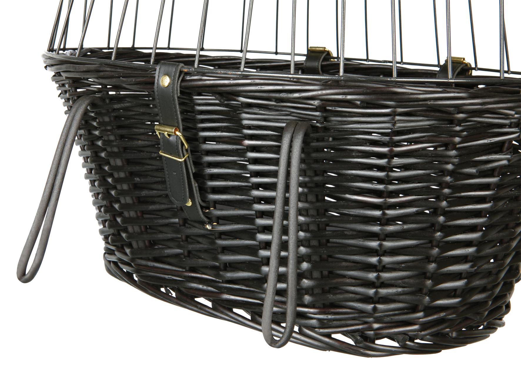 Front-Fahrradkorb für Tiere mit Gitter TRIXIE schwarz 50x35x41cm Bild 3