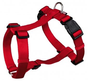 Hundegeschirr / H-Geschirr Premium Nylon TRIXIE Gr. S-M rot Bild 1
