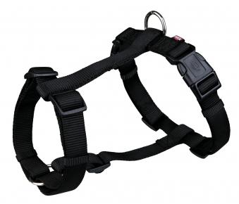 Hundegeschirr / H-Geschirr Premium Nylon TRIXIE Gr. S-M schwarz Bild 1