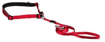 Leine mit Bauchgurt TRIXIE kleine und mittelgroße Hunde rot Bild 1