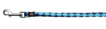 Hundeleine Führleine Nylon Trixie Cavo L-XL Ø18mm 100cm blau hellblau