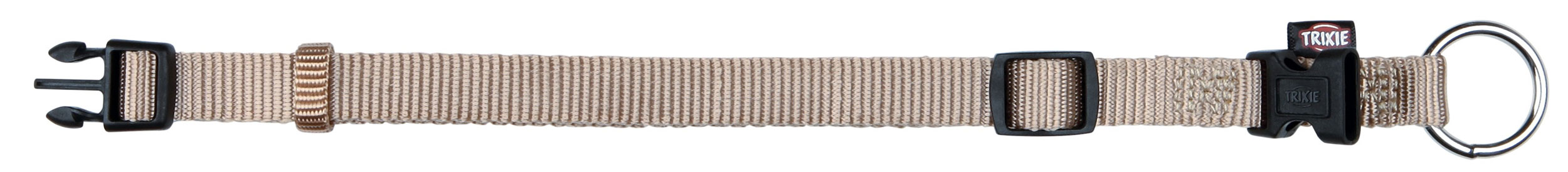 Halsband Premium verstellbar Nylon TRIXIE Größe S-M beige Bild 1