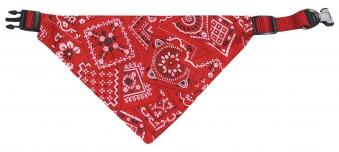 Halsband und Hundehalstuch Bandana 35-50 cm rot Karlie Bild 1