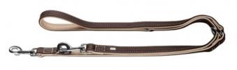 Hundeleine verstellbar Canadian Elk 15mm 200cm dunkelbraun/beige Bild 1