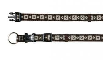 Halsband Modern Art Coffee verstellbar Nylon Trixie Größe M-L