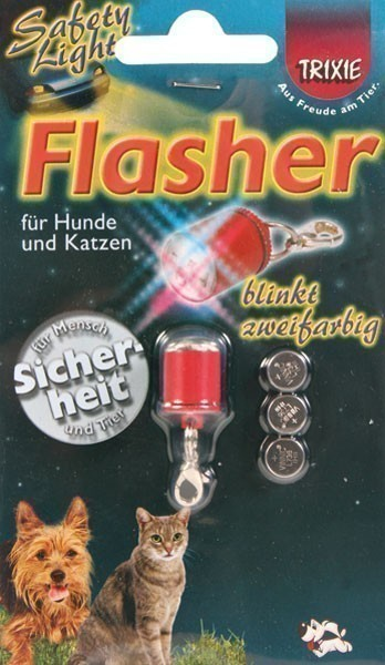 Anhänger zweifarbiges Blinklicht Flasher Safety Light TRIXIE rot Bild 2