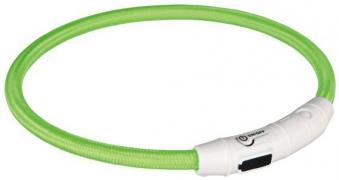 Leuchthalsband / Leuchtring Flash Trixie USB grün XS - S 35 cm Bild 1