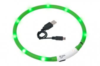 Leuchthalsband / Leuchtring Visio Light Karlie 20-70cm grün Bild 1