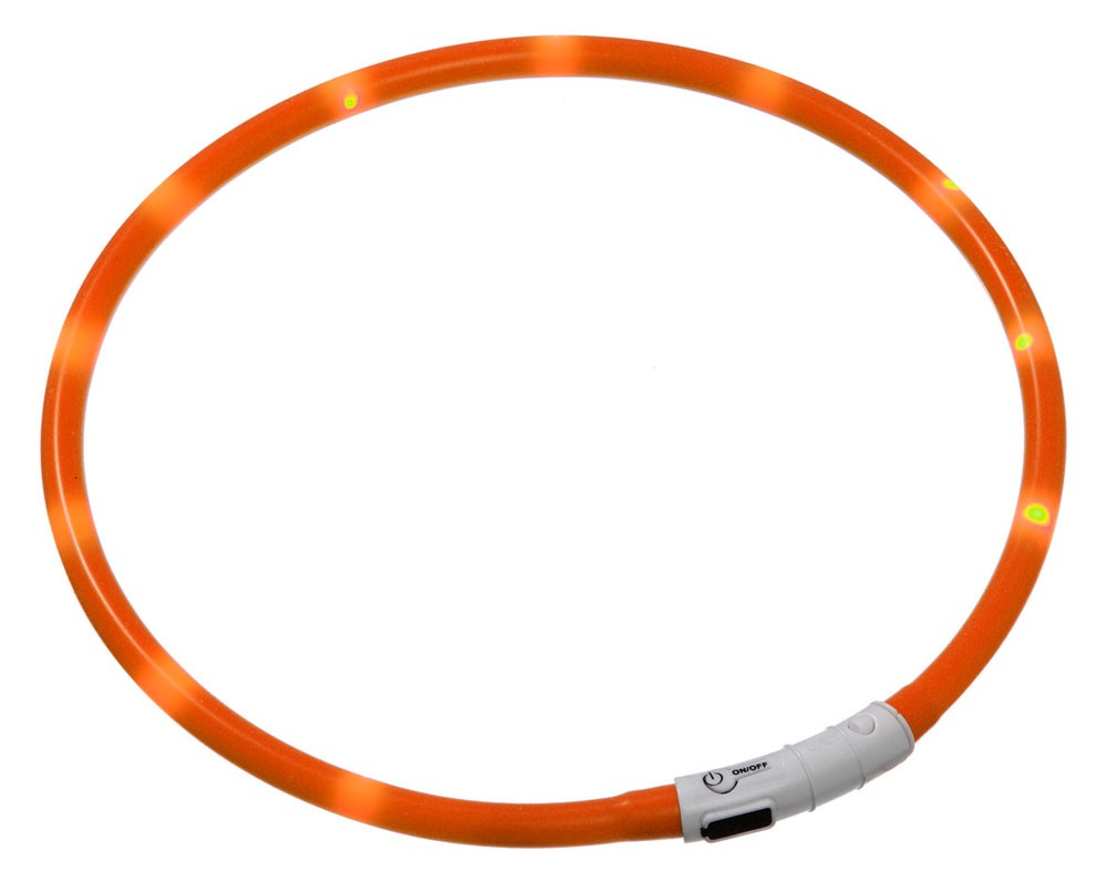 Leuchthalsband / Leuchtring Visio Light Karlie 20-70cm orange Bild 1
