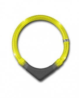 Leuchthalsring / Leuchthalsband LEUCHTIE-PLUS Größe 35 gelb Bild 1