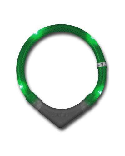 Leuchthalsring / Leuchthalsband LEUCHTIE-PLUS Größe 45 grün Bild 1