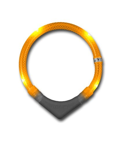 Leuchthalsring / Leuchthalsband LEUCHTIE-PLUS Größe 45 orange Bild 1