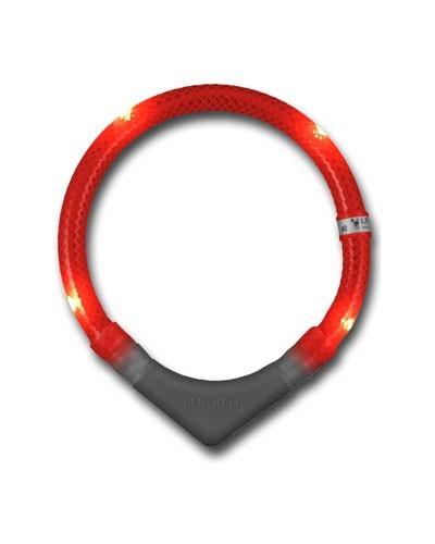 Leuchthalsring / Leuchthalsband LEUCHTIE-PLUS Größe 45 rot Bild 1