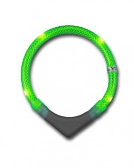 Leuchthalsring / Leuchthalsband LEUCHTIE-PLUS Größe 55 neongrün Bild 1