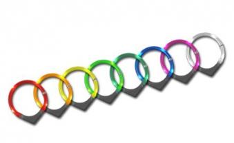 Leuchthalsring / Leuchthalsband LEUCHTIE-PLUS Größe 60 blau Bild 1