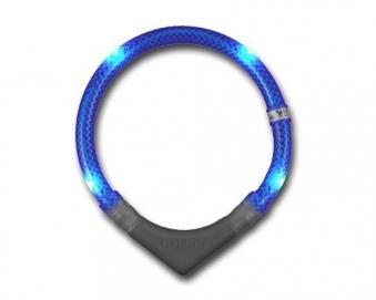 Leuchthalsring / Leuchthalsband LEUCHTIE-PLUS Größe 60 blau Bild 2