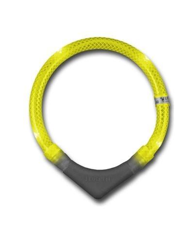 Leuchthalsring / Leuchthalsband LEUCHTIE-PLUS Größe 65 gelb Bild 1