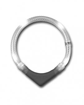 Leuchthalsring / Leuchthalsband LEUCHTIE-PLUS Größe 65 weiß Bild 1