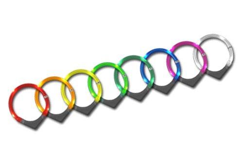 Leuchthalsring / Leuchthalsband LEUCHTIE-PLUS Größe 70 blau Bild 1