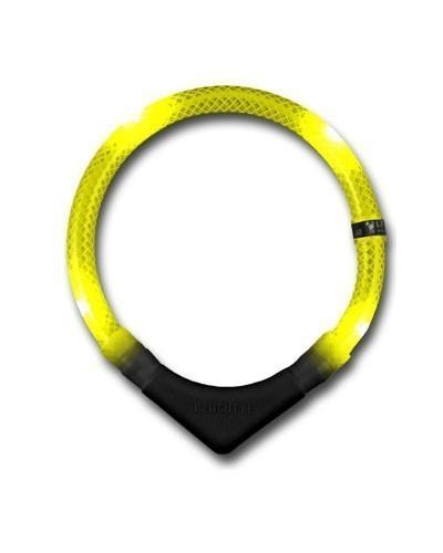 Leuchthalsring / Leuchthalsband LEUCHTIE-PREMIUM Größe 35 gelb Bild 1