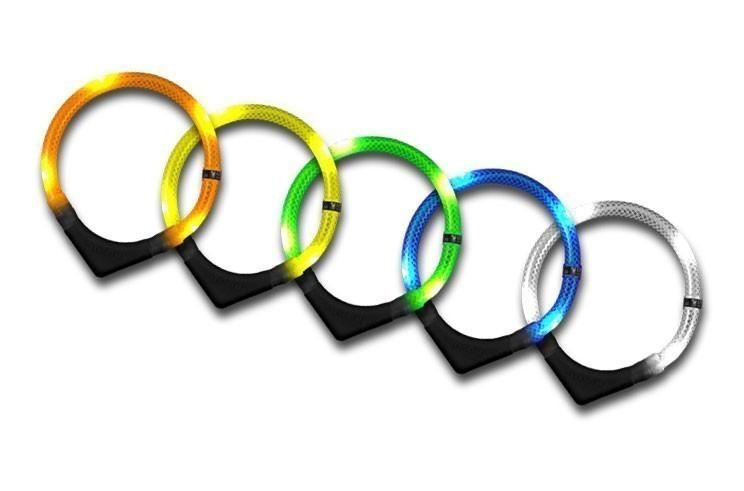 Leuchthalsring / Leuchthalsband LEUCHTIE-PREMIUM Größe 50 blau Bild 1