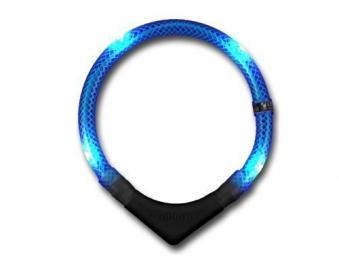 Leuchthalsring / Leuchthalsband LEUCHTIE-PREMIUM Größe 50 blau Bild 2