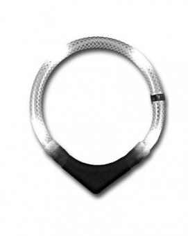 Leuchthalsring / Leuchthalsband LEUCHTIE-PREMIUM Größe 65 weiß Bild 1