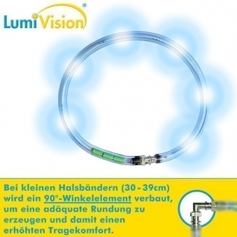 Leuchthalsring / Leuchtring LumiVision 30cm blau Bild 2