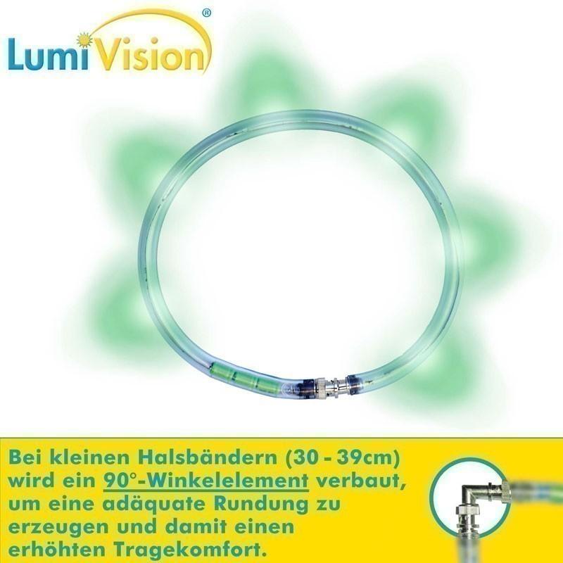 Leuchthalsring / Leuchtring LumiVision 31cm grün Bild 2