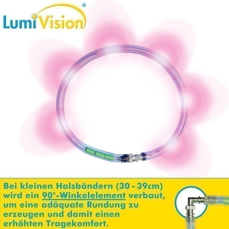 Leuchthalsring / Leuchtring LumiVision 31cm pink Bild 2