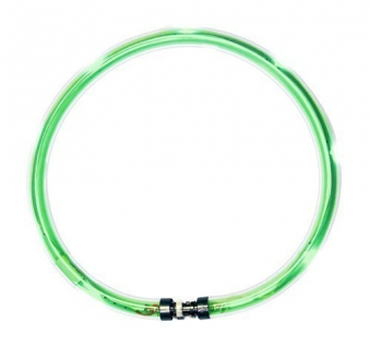 Leuchthalsring / Leuchtring LumiVision 32cm grün Bild 1