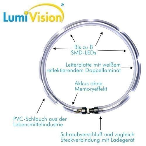 Leuchthalsring / Leuchtring LumiVision 32cm rot Bild 4