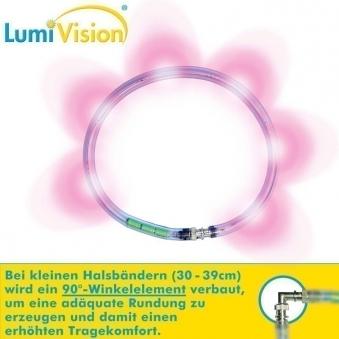 Leuchthalsring / Leuchtring LumiVision 34cm pink Bild 2