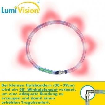 Leuchthalsring / Leuchtring LumiVision 34cm rot Bild 2