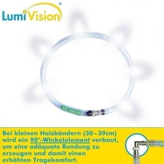 Leuchthalsring / Leuchtring LumiVision 37,5cm weiß Bild 2