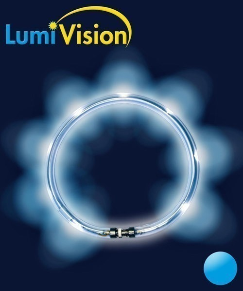 Leuchthalsring / Leuchtring LumiVision 40cm blau Bild 2