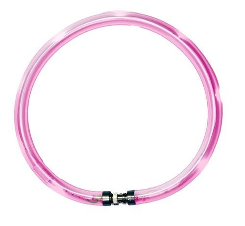 Leuchthalsring / Leuchtring LumiVision 45cm pink Bild 1