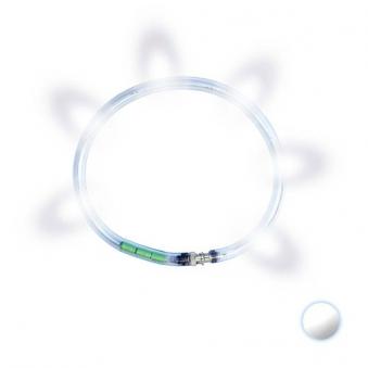 Leuchthalsring / Leuchtring LumiVision 45cm weiß Bild 1