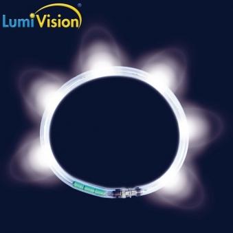 Leuchthalsring / Leuchtring LumiVision 45cm weiß Bild 2