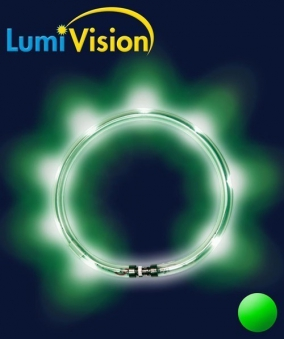Leuchthalsring / Leuchtring LumiVision 52,5cm grün Bild 2