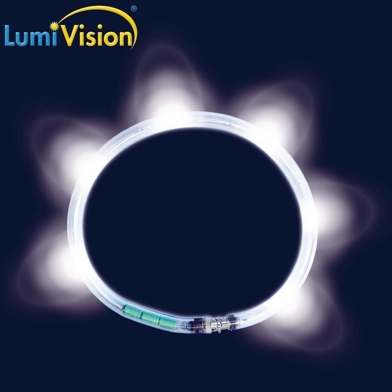 Leuchthalsring / Leuchtring LumiVision 55cm weiß Bild 2