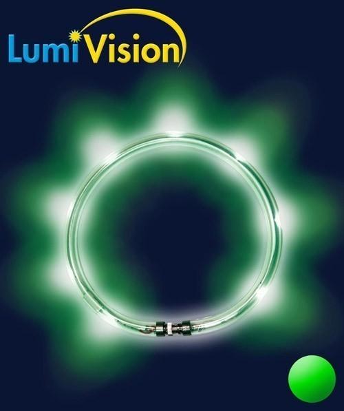 Leuchthalsring / Leuchtring LumiVision 57,5cm grün Bild 2