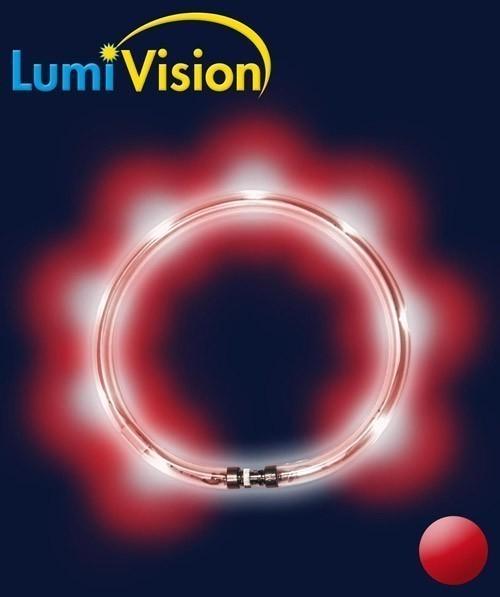 Leuchthalsring / Leuchtring LumiVision 65cm rot Bild 2
