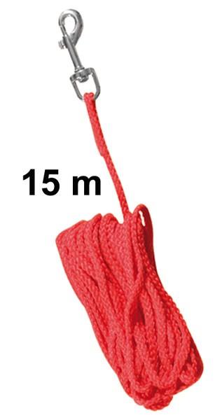 Schleppleine Ø 5 mm Nylon TRIXIE Länge 15 m rot Bild 1