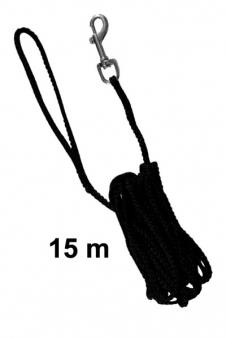 Schleppleine Ø 5 mm Nylon TRIXIE Länge 15 m schwarz Bild 1