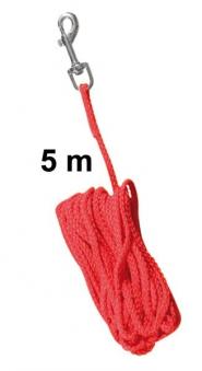Schleppleine Ø 5 mm Nylon TRIXIE Länge 5 m rot Bild 1